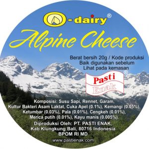 Indonesian Alpine Cheese